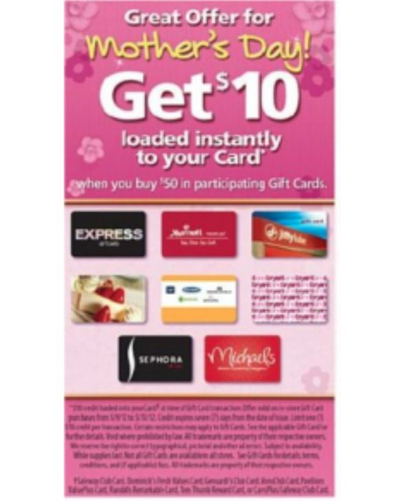$10 of FREE groceries at Safeway with select gift card purchases