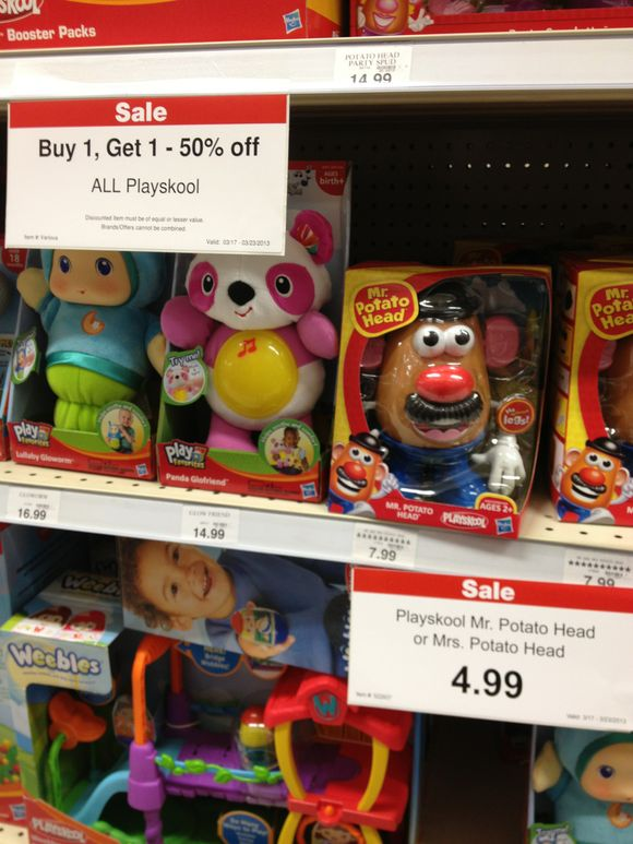 Mr. & Mrs. Potato Head Toys R Us Deal ($3.49 for both!)
